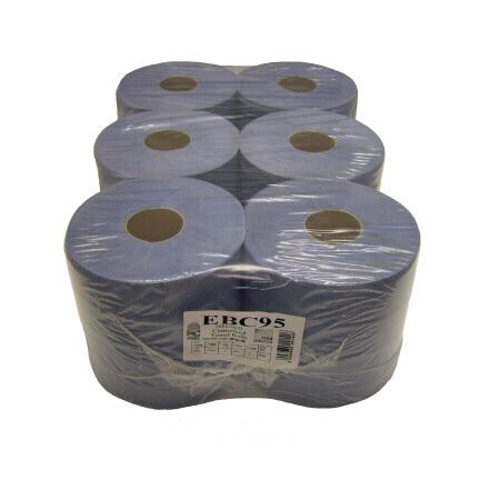 Blue Roll 2 Ply Centre Feed 1 x 6