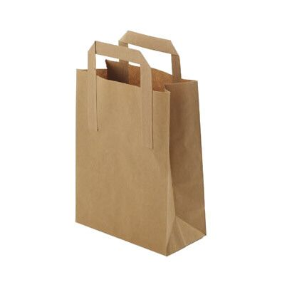 Brown Paper Carrier Bags - Medium - 250