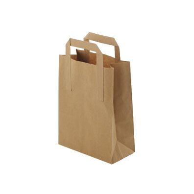 Brown Paper Carrier Bags - Small - 500