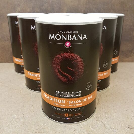 Monbana Hot Chocolate 6 x 1kg - £7.20 per kg Tub (salon de the)